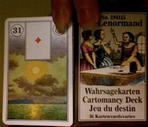 Jeu du Destin Lenormand deck
