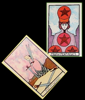 4 of Pentacles & 5 of Swords
