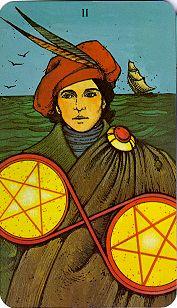 Morgan Greer Tarot 2 Pentacles Ask My Cards
