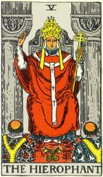 HIEROPHANT: Illustrations of the Popular 1910 Deck are public domain