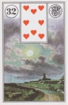 8 of Hearts. The Lenormand Moon.