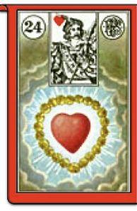 Piatnik Heart card