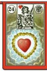 Piatnik Heart card