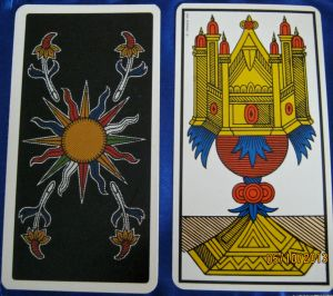 Tarot of Marseilles 1963 backs