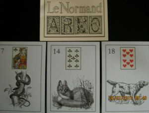 LeNormand ARLO snake, fox, dog