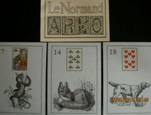 LeNormand ARLO snake, fox, dog