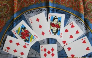 Astrology top half layout gong hee fot choy cards
