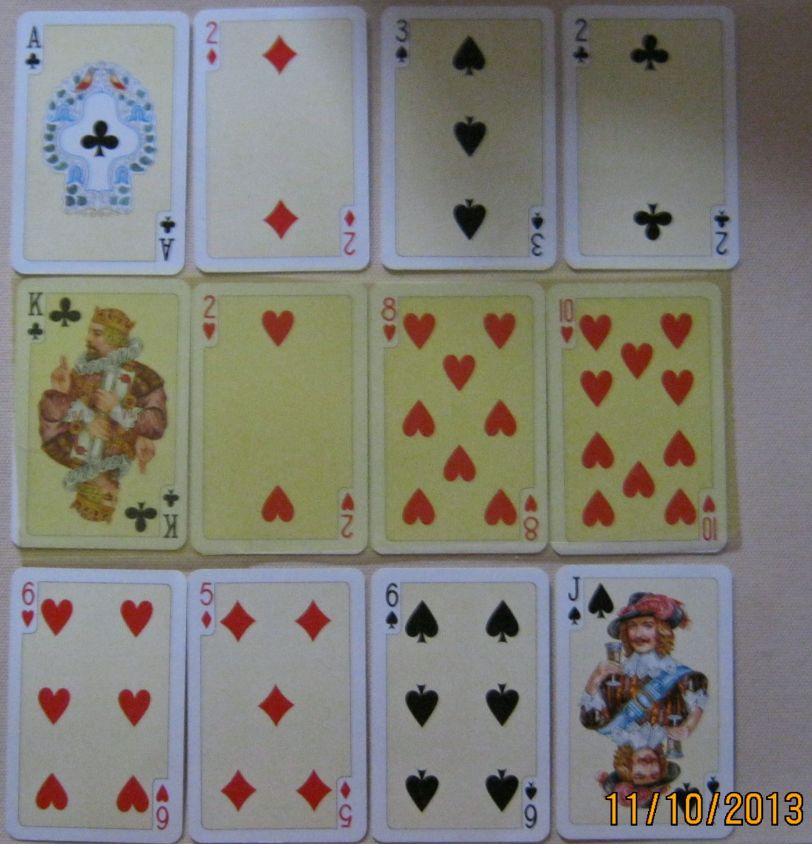 Seaqueen's Trigger Layout with playing cards