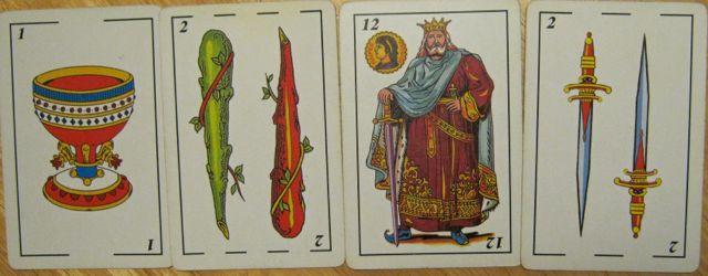 A Cups 2 Wands 12 (King) Swords 2 Swords