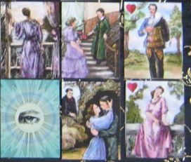 6 card Marriage Spread featuring Gipsy cards