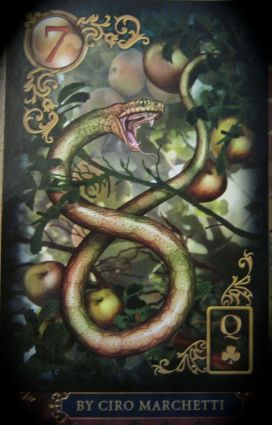 Gilded Reverie Lenormand. The Snake by Ciro Marchetti.