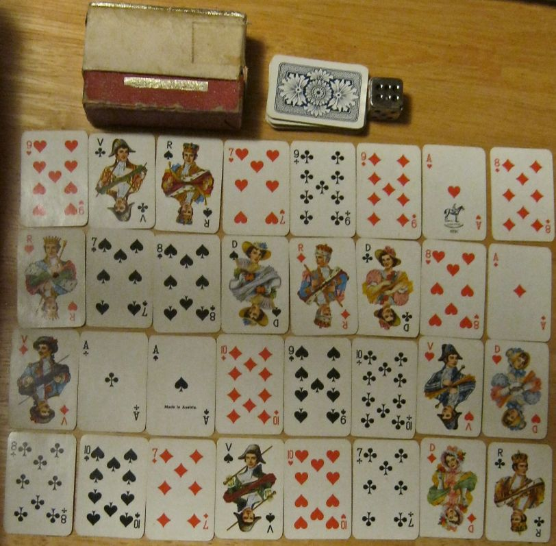Vintage Miniature playing cards. Piatnik, Made in Austria.