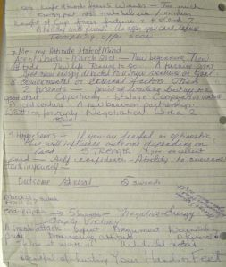 April 21, 2007 handwritten Reading side 2 of page