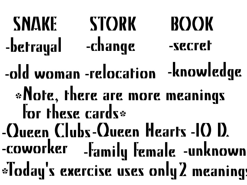 Exercise in reading combination