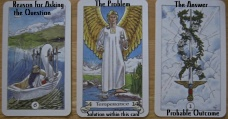 Robin Wood Tarot.6 Swords, Temperance, Ace Swords