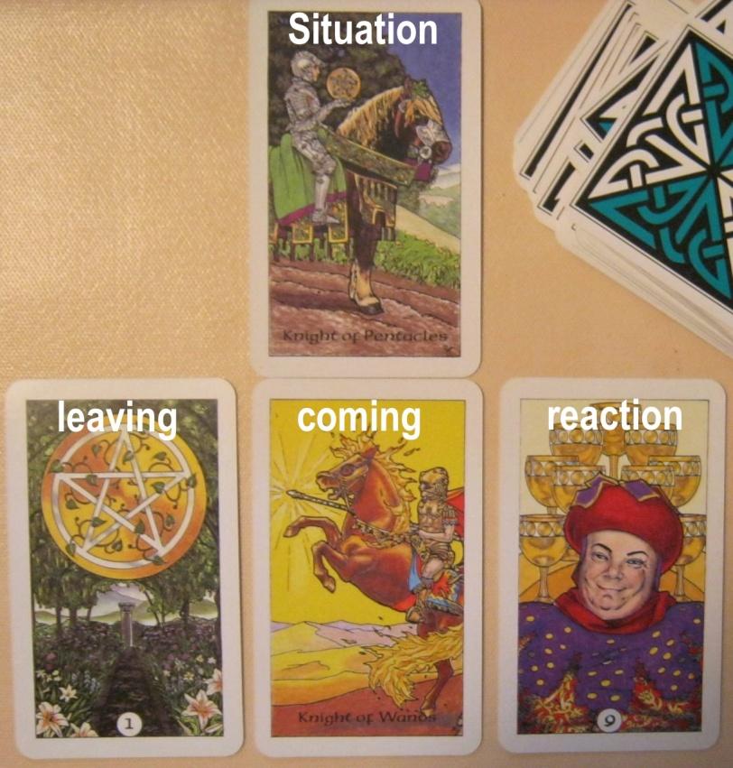 Reaction Layout featuring Robin Wood Tarot