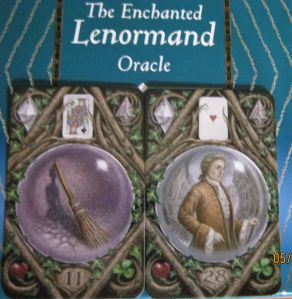 enchanted lenormand broom.whip and gentleman