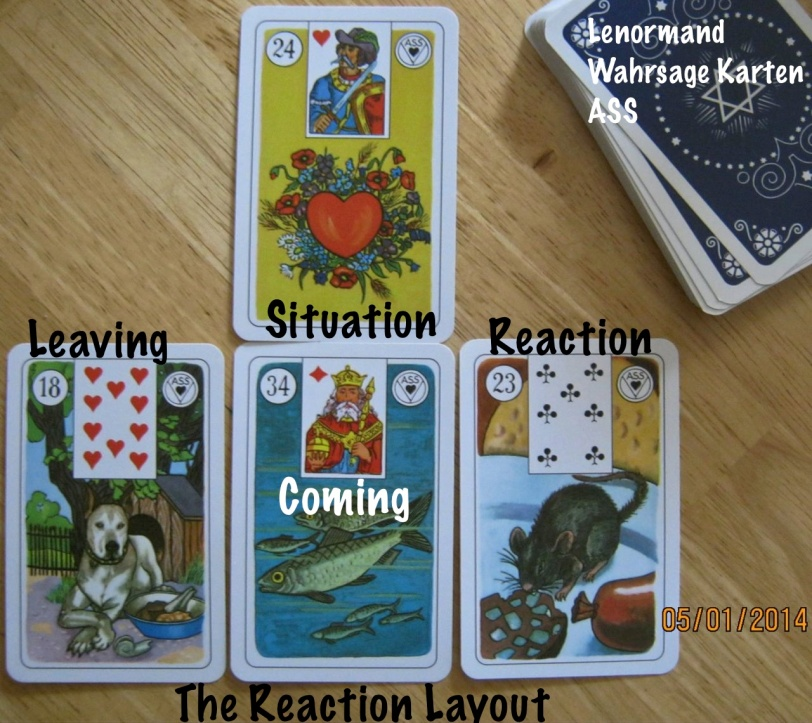 Reaction Layout featuring Lenormand cards