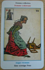 Sibilla Oracle cards Angry Woman