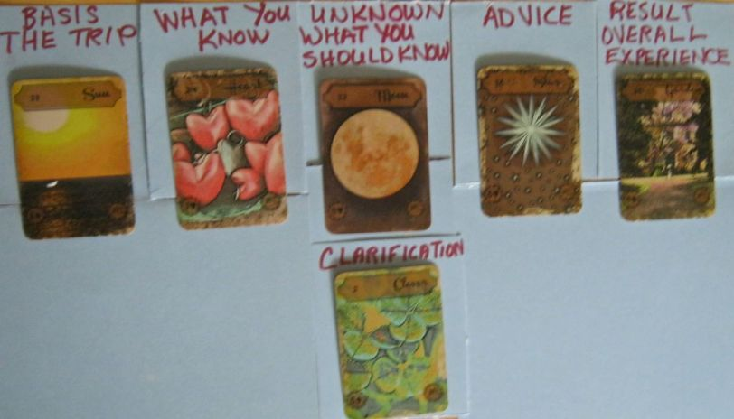 Vintage Lenormand. 5 card Advice Layout with Clarification card. May 18:14