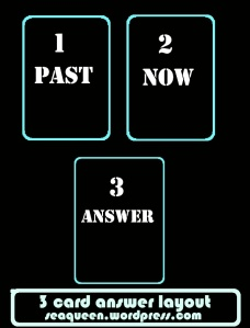 3 card Answer layout