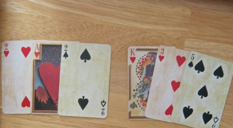 21 card layout. Closest to Person, Home:Family fan of cards
