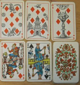 vintage Russian deck diamonds