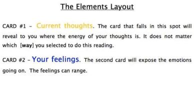 Elements Layout. Card 1 & 2