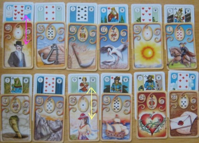 Lenormand Houses 1-12 of the 6 x 6 GT layout