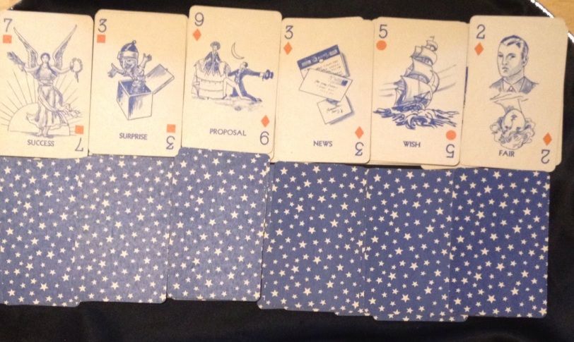 Gypsy Queen fortune telling cards. The future row.