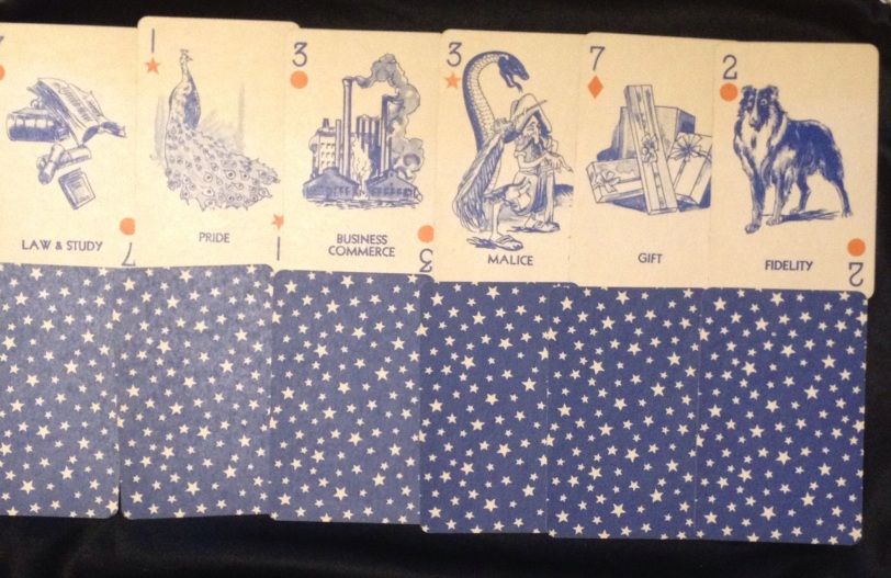 Gypsy Queen fortune telling cards. The Past row.