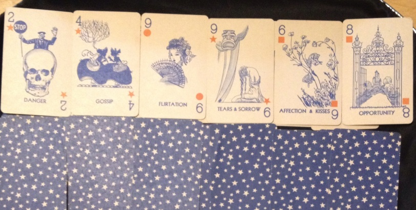Gypsy Queen fortune telling cards. The wish row.