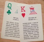 queen clubs, king hearts, destiny cards dana 1991