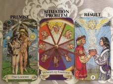 Robin Wood Tarot using Pages of Shustah 3 card layout