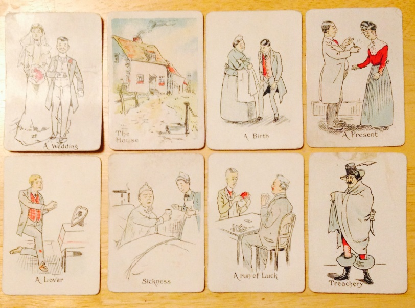 "Antique ""Gipsy"" fortune telling cards"