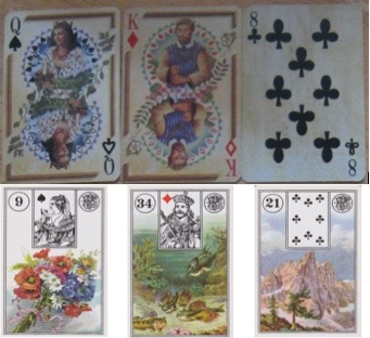 Comparing playing cards n Lenormand cards - 1