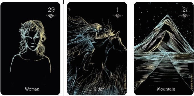 3 card draw. Clair de Lune Lenormand - 1